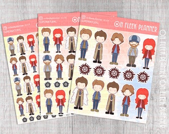 Cute Supernatural Sticker Set | Erin Condren Planner| Kikki K | Filofax | Plum Planner |  Happy Planner | SS# 1011