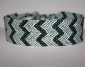 Double chevron friendship/wish bracelet