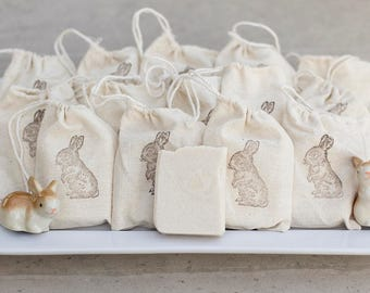 Baby Shower Favor, Soap, Bunny Shower Favors, 34 Count Soap Favors, Rustic Soap Favors, Coconut Favors
