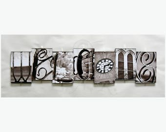 WELCOME *** Letter Art Reflections, Alphabet Photography Picture
