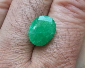 7.05-Carat COLOMBIAN EMERALD natural and certified GGL