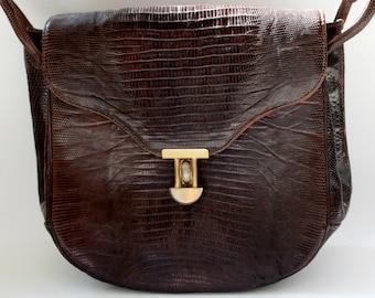 Faux Snakeskin Vintage Handbag