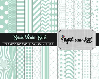 Baby Green Digital Paper