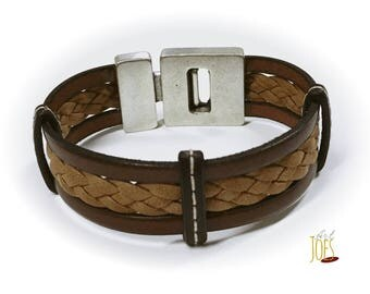 Bracelet 20mm with different leathers leather