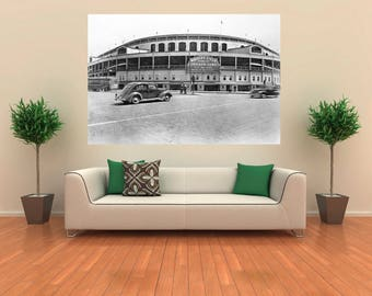 Historic 1930s WRIGLEY FIELD Chicago Cubs Canvas Print 24 x 18 North Side