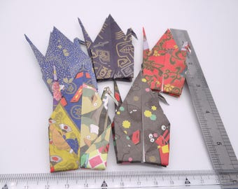 10 large 6'' Spirited Away Origami paper crane,Make a wish,Washi Chiyogami,Cute Origami crane,wedding,party,Decoration,Card