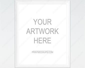 Styled White Frame Mockup, Simple White Frame Mockup, Scandinavian, Styled Photography Mockup, Mock-up, Digital Frame, Instant download