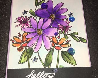 "Greeting Card , ""Hello"""