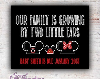 Disney Mickey Ears Baby Announcement