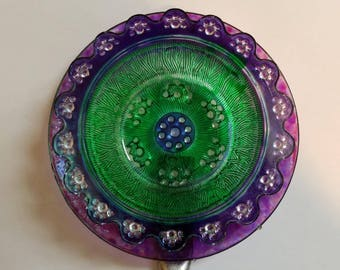Vintage Garden Glass- Purple and Green