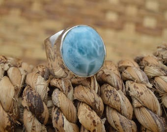 Ring... RE ARTU...  with Larimar gem... Miguel Méndez... the father of the Larimar.