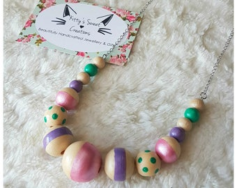 Cordelia Necklace - Hand Painted