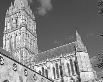 Salisbury Cathedral - Blank Greetings Card