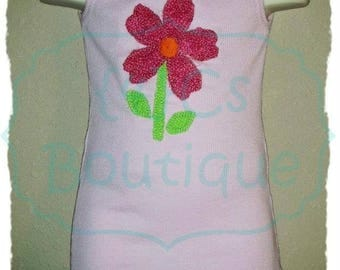 Appliqued Ribbed Tank Top SZ 3 Boutique