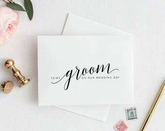 To My Groom On Our Wedding Day Card | Printable To My Groom On Our Wedding Day Card | DIY To My Groom on Our Wedding Day Card | Groom Card