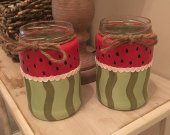 Set of Watermelon Jars