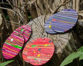 Round Wooden Earrings - Handmade in Zambia, Africa