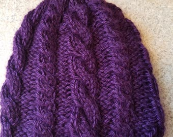 Handmade Cable Knit Hat