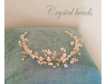 Wedding Headdress With Pearls