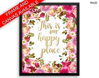 This Is Our Happy Place Printed  Poster This Is Our Happy Place Framed This Is Our Happy Place  Canvas This Is Our Happy Place