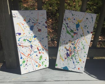 Set Of Two Abstract Paintings
