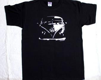 VW Camper Van T Shirt Split Screen Bus Veedub Volkswagen t-shirt