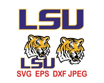 Luisiana Tigers.svg,eps,dxf,png.
