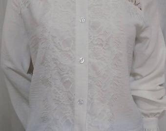 Shirt long sleeves white