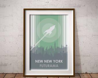 Futurama New New York Art Print