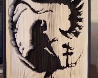Folded Book Art - Alice in wonderland