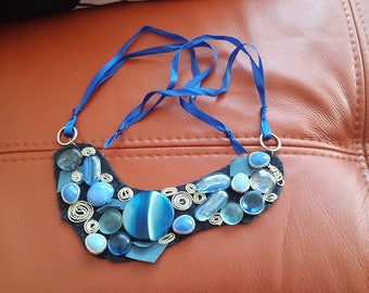 Cloudy Night sky - Big Necklace