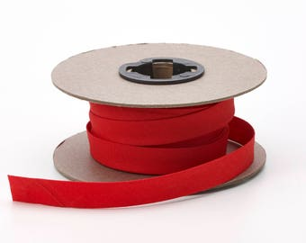"Quilt binding, p/c, 5/8"" doublefold, 25 yds, Red"