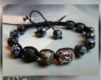 Buddha bracelet shamballa jewels lava stone mother's day father's day gift jewelry healing stones