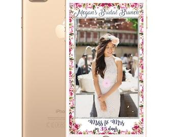 Floral Border Bridal Shower SnapChat Filter