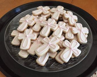 Cross Cookies, Baptism Cookie Favor, Christening Cookie Favor, Communions Cookie favors, Gift, Easter
