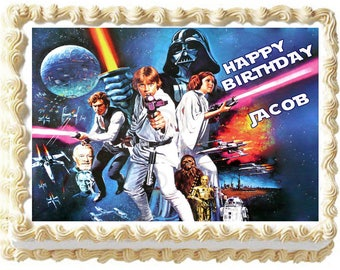STAR WARS Edible cake topper Image party decoration