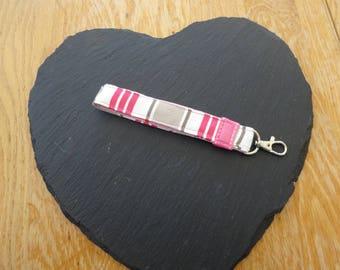 Wrist Loop Keyring, stripes