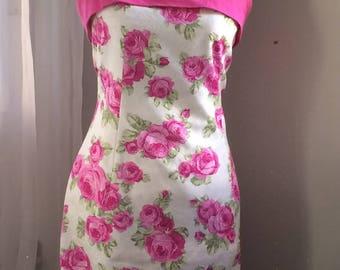 Vintage Roses Strapless Dress