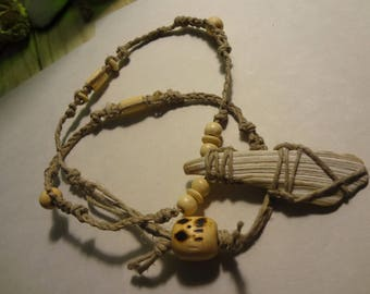 Grey scale shell fragment necklace