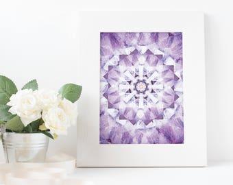 purple, summer, kaleidoscope, art, download printable poster A3/A4/A5