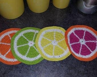 Citrus Potholder Set