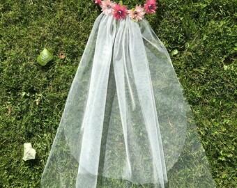 Bride-to-Be Floral Viel