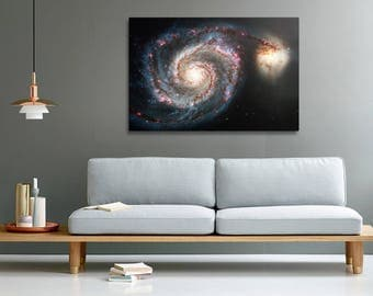 The Whirlpool Galaxy photo print on canvas