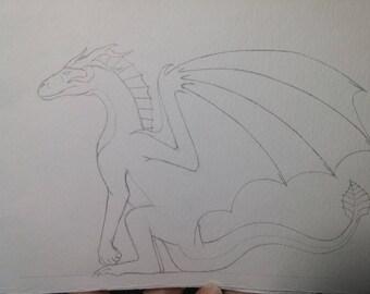 Water Colour Dragon 2