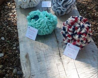 Crochet cotton pouf loofah