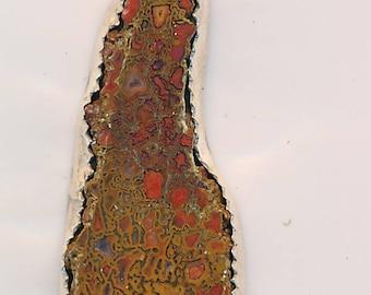 Beautiful Dinosaur Bone and Sterling Silver Chakra Pendant