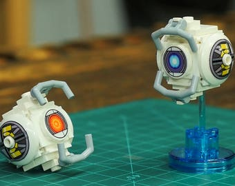 Custom Lego Stickers for Portal 2 Wheatley as seen in Lego Dimensions