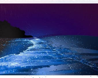 Sea of Stars- Maldives Graphic Art
