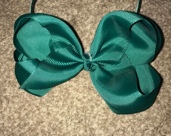Green big bow hair headband