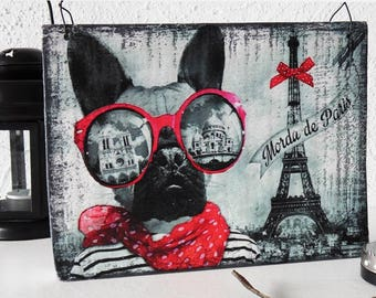 paris wall decor, eiffel tower wall decor, glamor dog